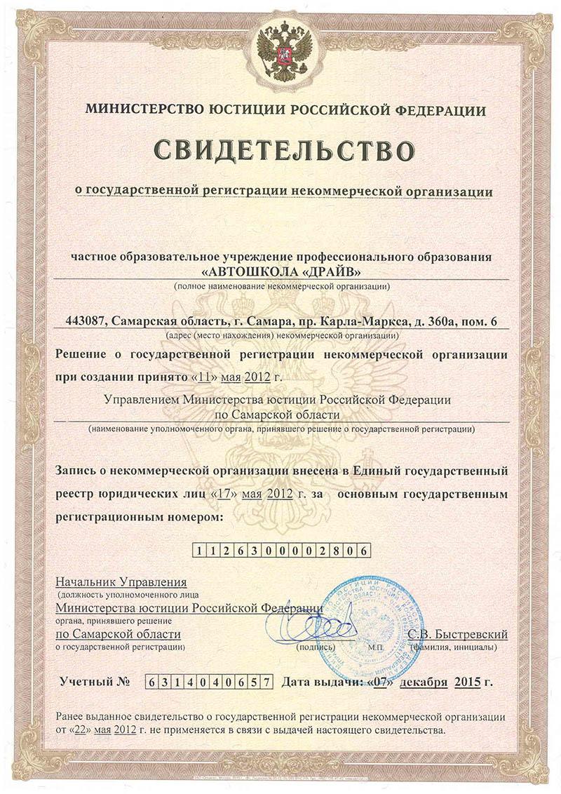 регистрация некоммерческих организаций самаре